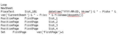 Syntaxe d'une runlist