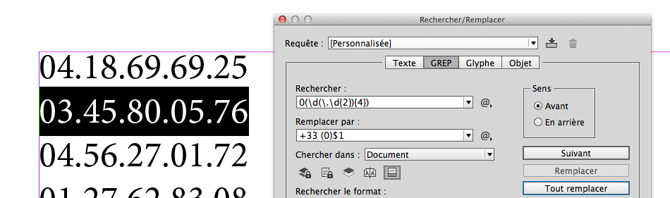 Regular expressions in InDesign