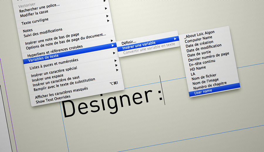 Add highly customized Text Variables to InDesign